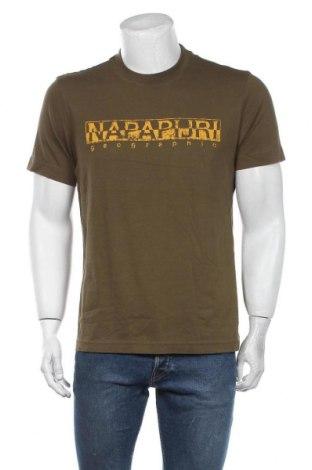 Мъжка тениска Napapijri, Размер L, Цвят Зелен, Памук, Цена 60,52лв.
