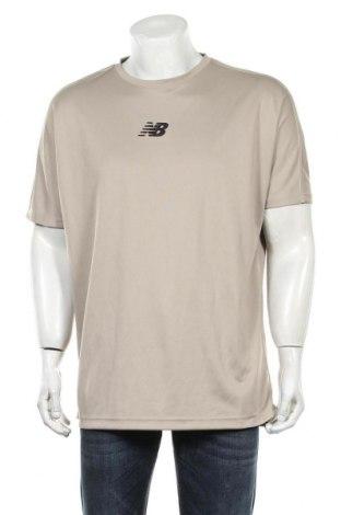 Мъжка тениска New Balance, Размер L, Цвят Бежов, Полиестер, Цена 41,30лв.