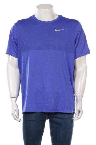 Męski T-shirt Nike Running, Rozmiar XL, Kolor Niebieski, Poliester, Cena 124,00zł