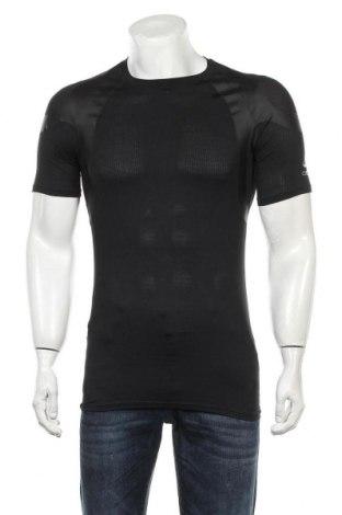 Мъжка тениска Odlo, Размер L, Цвят Черен, 93% полиестер, 7% еластан, Цена 29,25лв.