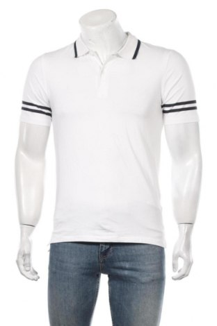 Мъжка тениска Only & Sons, Размер M, Цвят Бял, 95% памук, 5% еластан, Цена 16,80лв.