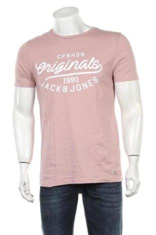 Мъжка тениска Originals By Jack & Jones, Размер L, Цвят Пепел от рози, Памук, Цена 21,00лв.