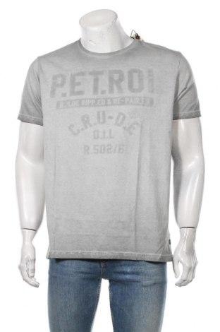 Мъжка тениска Petrol Industries, Размер XL, Цвят Сив, Памук, Цена 25,50лв.
