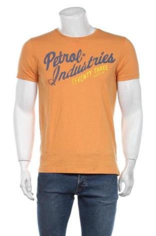 Мъжка тениска Petrol Industries, Размер M, Цвят Жълт, Памук, Цена 24,00лв.