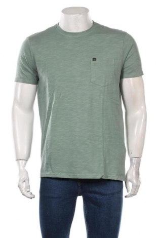 Tricou de bărbați Petrol Industries, Mărime L, Culoare Verde, Bumbac, Preț 103,62 Lei