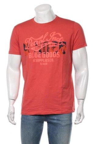 Мъжка тениска Petrol Industries, Размер L, Цвят Оранжев, Памук, Цена 19,50лв.