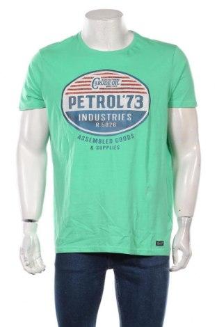 Мъжка тениска Petrol Industries, Размер XL, Цвят Зелен, Памук, Цена 31,50лв.