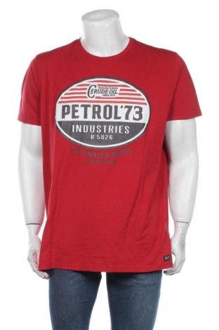 Мъжка тениска Petrol Industries, Размер 3XL, Цвят Червен, Памук, Цена 31,50лв.