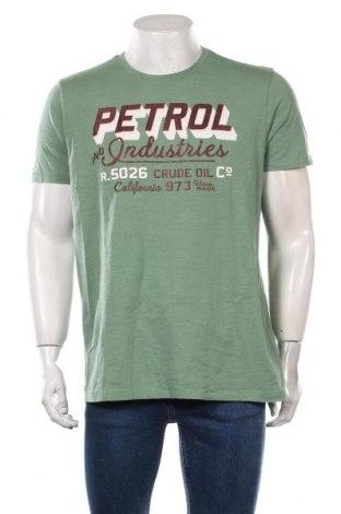 Мъжка тениска Petrol Industries, Размер XL, Цвят Зелен, Памук, Цена 25,50лв.