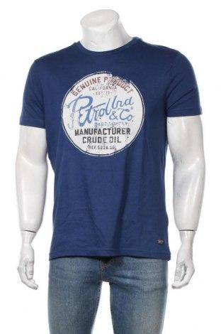 Мъжка тениска Petrol Industries, Размер L, Цвят Син, Памук, Цена 25,50лв.