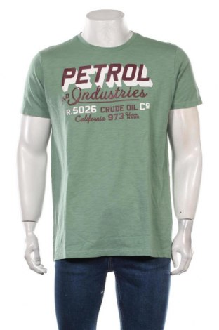 Tricou de bărbați Petrol Industries, Mărime XL, Culoare Verde, Bumbac, Preț 93,95 Lei