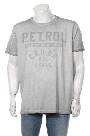 Мъжка тениска Petrol Industries, Размер 3XL, Цвят Сив, Памук, Цена 19,50лв.