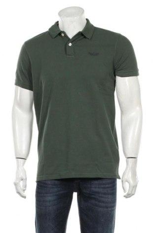 Tricou de bărbați Petrol Industries, Mărime L, Culoare Verde, Bumbac, Preț 105,26 Lei