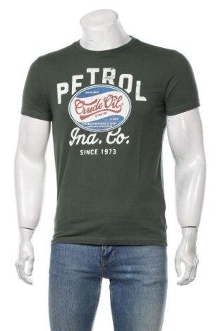 Мъжка тениска Petrol Industries, Размер S, Цвят Зелен, Памук, Цена 19,50лв.