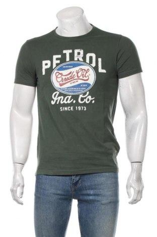 Мъжка тениска Petrol Industries, Размер S, Цвят Зелен, Памук, Цена 24,00лв.