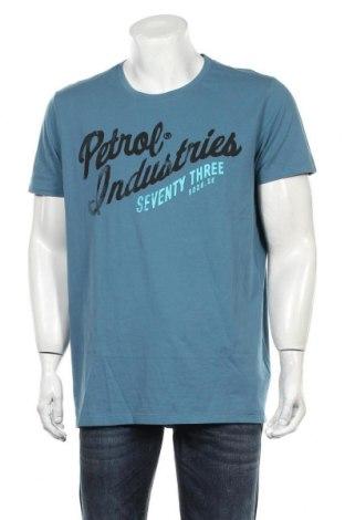 Мъжка тениска Petrol Industries, Размер XXL, Цвят Син, Памук, Цена 21,75лв.