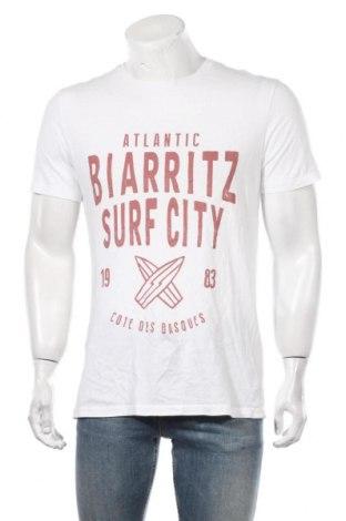 Мъжка тениска Pier One, Размер M, Цвят Бял, Памук, Цена 18,90лв.