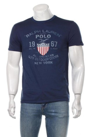 Мъжка тениска Polo By Ralph Lauren, Размер L, Цвят Син, Памук, Цена 53,72лв.