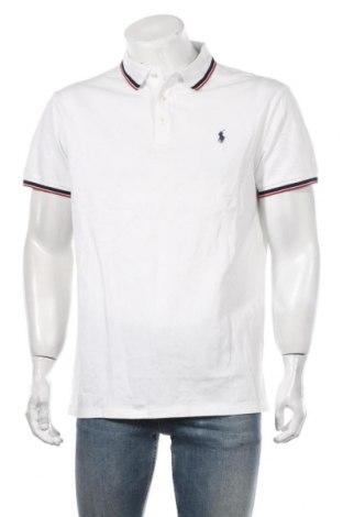 Мъжка тениска Polo By Ralph Lauren, Размер XL, Цвят Бял, 97% памук, 3% еластан, Цена 53,72лв.
