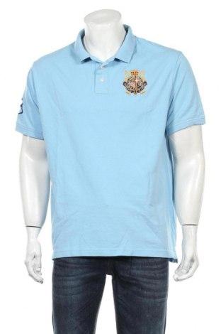 Мъжка тениска Polo Club, Размер XXL, Цвят Син, Памук, Цена 19,50лв.