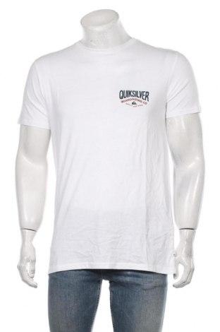 Мъжка тениска Quiksilver, Размер M, Цвят Бял, Памук, Цена 31,85лв.