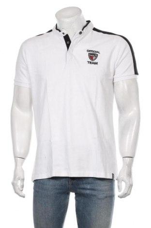 Męski T-shirt RG 512, Rozmiar L, Kolor Biały, Bawełna, Cena 58,00zł