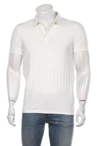 Мъжка тениска Reserved, Размер M, Цвят Бял, 70% полиестер, 25% вискоза, 5% еластан, Цена 16,82лв.