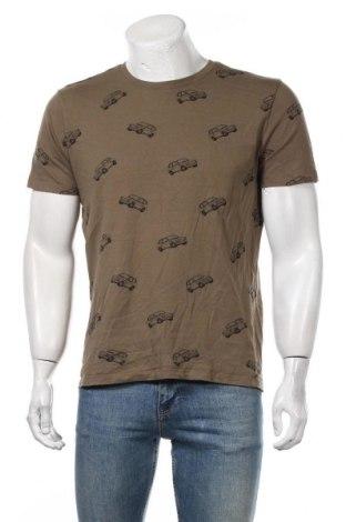 Мъжка тениска Reserved, Размер L, Цвят Зелен, Цена 17,85лв.