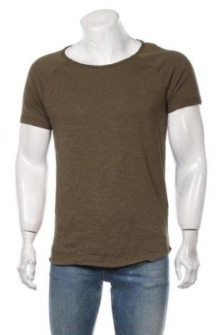 Мъжка тениска Review, Размер S, Цвят Зелен, Памук, Цена 19,50лв.