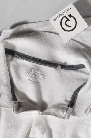 Мъжка тениска S.Oliver, Размер L, Цвят Бял, Памук, Цена 21,60лв.