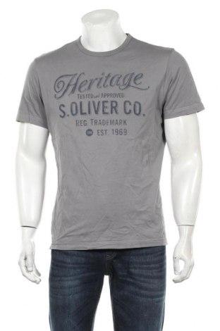 Мъжка тениска S.Oliver, Размер L, Цвят Сив, Памук, Цена 16,80лв.