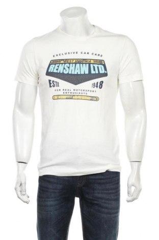 Мъжка тениска S.Oliver, Размер M, Цвят Бял, Памук, Цена 22,00лв.