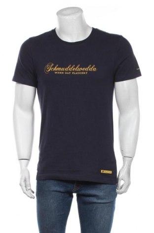 Мъжка тениска Schmuddelwedda, Размер S, Цвят Син, 100% памук, Цена 36,75лв.