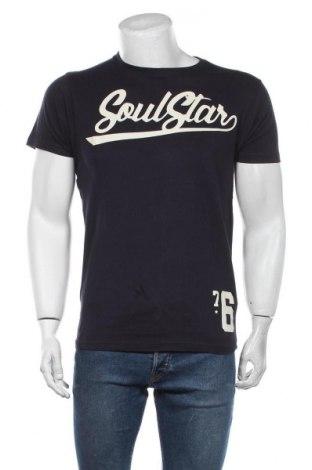 Мъжка тениска Soulstar, Размер L, Цвят Син, Памук, Цена 21,00лв.