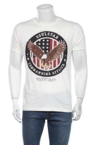 Мъжка тениска Soulstar, Размер L, Цвят Бял, Памук, Цена 19,50лв.
