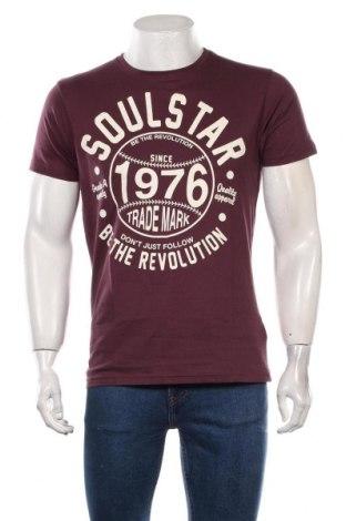 Tricou de bărbați Soulstar, Mărime L, Culoare Roșu, Bumbac, Preț 71,54 Lei