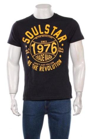 Мъжка тениска Soulstar, Размер L, Цвят Син, Памук, Цена 18,00лв.