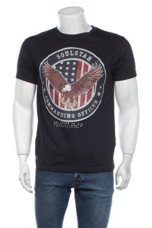 Мъжка тениска Soulstar, Размер M, Цвят Син, Памук, Цена 18,00лв.