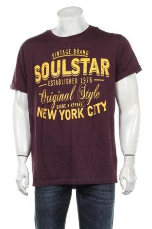 Мъжка тениска Soulstar, Размер XXL, Цвят Лилав, Памук, Цена 19,50лв.