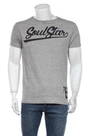 Мъжка тениска Soulstar, Размер L, Цвят Сив, 85% памук, 15% вискоза, Цена 19,60лв.