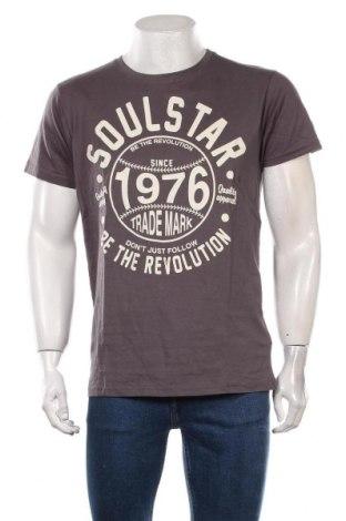Мъжка тениска Soulstar, Размер XL, Цвят Сив, Памук, Цена 18,00лв.