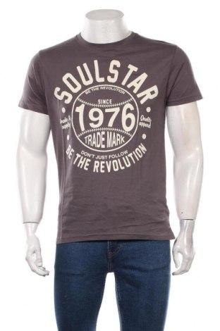 Мъжка тениска Soulstar, Размер L, Цвят Сив, Памук, Цена 16,80лв.
