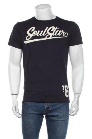 Мъжка тениска Soulstar, Размер L, Цвят Син, Памук, Цена 27,00лв.