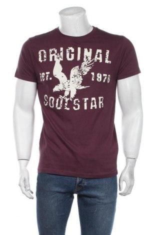 Мъжка тениска Soulstar, Размер L, Цвят Лилав, Памук, Цена 23,40лв.