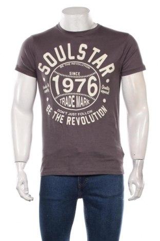 Tricou de bărbați Soulstar, Mărime M, Culoare Gri, Bumbac, Preț 72,37 Lei