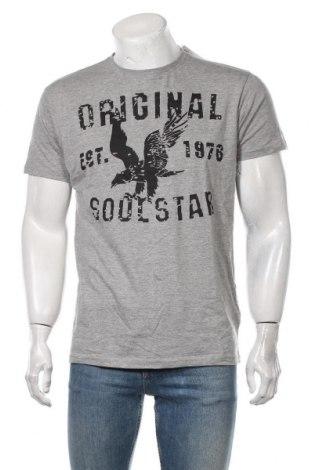 Мъжка тениска Soulstar, Размер XL, Цвят Сив, 85% памук, 15% вискоза, Цена 21,75лв.