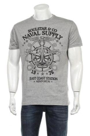 Мъжка тениска Soulstar, Размер XL, Цвят Сив, 85% памук, 15% вискоза, Цена 19,50лв.