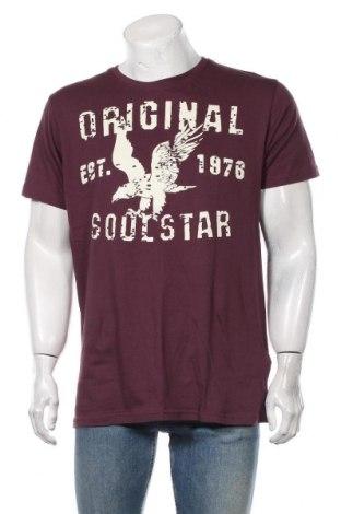 Мъжка тениска Soulstar, Размер XXL, Цвят Лилав, Памук, Цена 21,75лв.