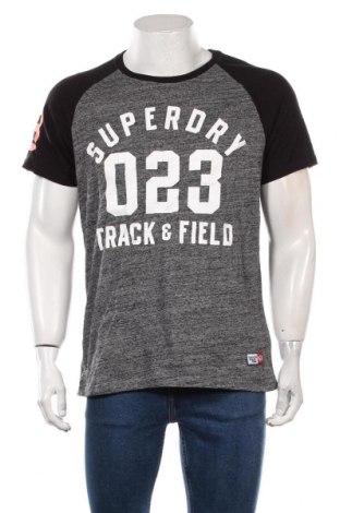Мъжка тениска Superdry, Размер L, Цвят Сив, Памук, Цена 28,98лв.
