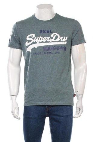 Мъжка тениска Superdry, Размер L, Цвят Син, 60% памук, 40% полиестер, Цена 48,30лв.